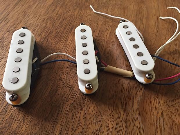 Fender American Standard Stratocaster Pickups 90s White Reverb