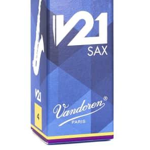 Vandoren SR824 V21 Series Tenor Saxophone Reeds - Strength 4 (Box of 5)