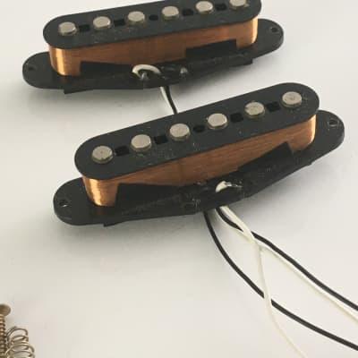 2 Fender Japan Vintage Natural Relic Aged Black Bobbin Stratocaster Pickups MIJ