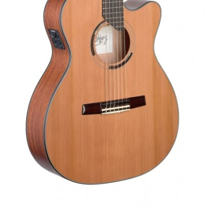 Angel Lopez Eresma Hybrid Cutaway Acoustic-Electric Classical Guitar for sale