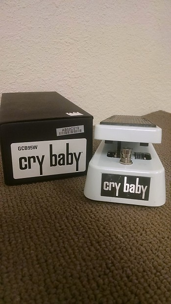Dunlop Limited Edition White Crybaby Wah Pedal GCB95W 2012 ...