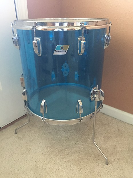 Ludwig vistalite 70 39 s clear blue 16 floor tom price reverb for 16 floor tom