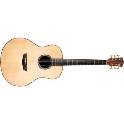 Washburn Bella Tono Elegante S24S Studio Acoustic Guitar, 20 Frets, Modern C Neck, Ebony Fretboard, Solid Sitka Spruce Top, Pau Ferro Back and Sides,