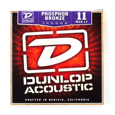 Dunlop Dap1152 Acoustic Phosphor Bronze. Medium Light Set/6