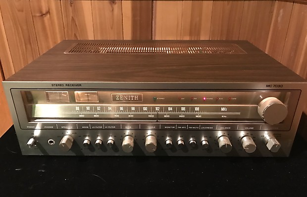 Zenith Mc 7030 Vintage Silverface Stereo Receiver In