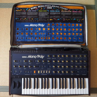 Korg Mono/Poly with Tubbutec MIDI+Original soft case + Sound Chart documents, serviced !