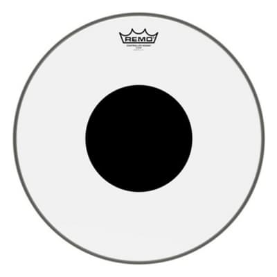 """Remo Controlled Sound Clear Black Dot Drumhead - Top Black Dot - 16"""""""
