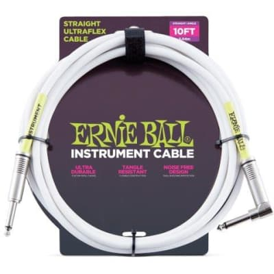 ERNIE BALL ULTRAFLEX 10FT (3M) STRAIGHT CABLE WH for sale