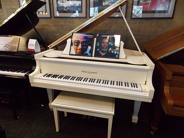 Kohler And Campbell Skg 500s 5ft Baby Grand Piano White Red Reverb