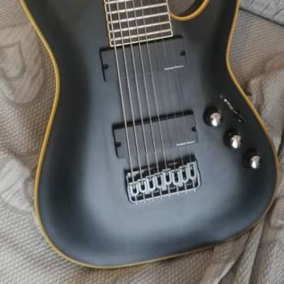 Schecter Blackjack ATX C-8 8 strings7Baritone Guitar satin black for sale