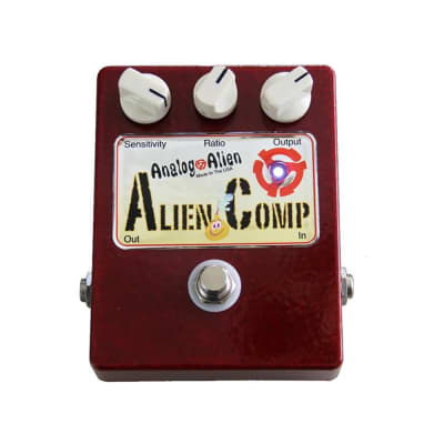Analog Alien Comp Compressor Boost Analog Guitar Effects Pedal w/ True Bypass
