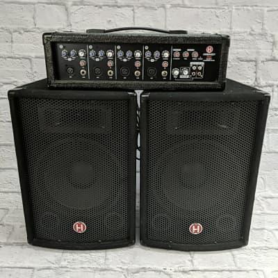 Harbinger M60 Powered Mixer & Speaker PA System