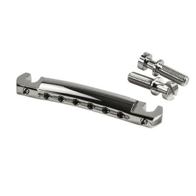 Kluson KWRAP-N USA Zinc Wraparound Tailpiece With Steel Studs - Nickel for sale