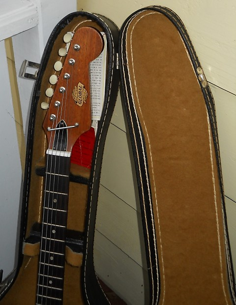 vintage global electric guitar 70 39 s with rochdale usa case reverb. Black Bedroom Furniture Sets. Home Design Ideas