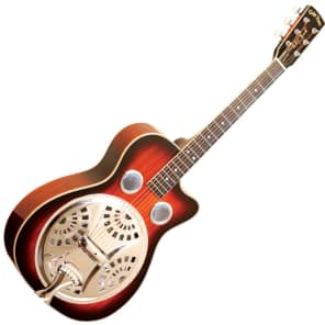 Gold Tone PBR-CA Paul Beard Signature Round Neck Resonator w/ Cutaway Two Tone Tobacco
