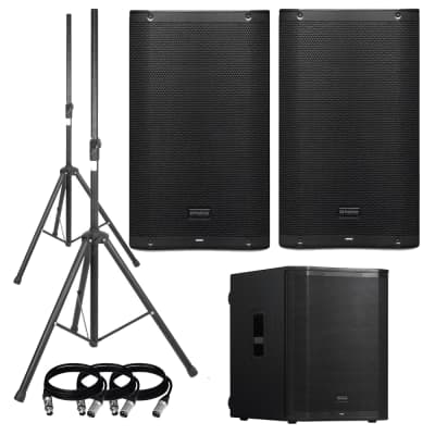PreSonus AIR12 2-Way Active Sound-Reinforcement Loudspeakers Pair with PreSonus AIR18S Active Sound-Reinforcement Subwoofer Package.