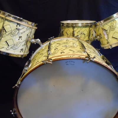 Ludwig and Ludwig 1941 Original Top Hat and Cane, Swing Sensation Drum Set