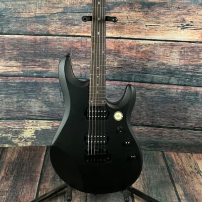 Sterling by Music Man JP60-SBK John Petrucci Signature Electric Guitar- Stealth Black for sale