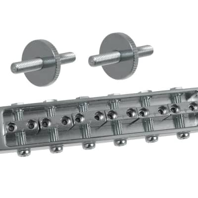 Allparts GB-2585-010 GOTOH 510BN HEIGHT ADJUSTABLE BRIDGE - Chrome