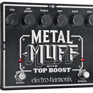 New Electro-Harmonix EHX Metal Muff Distortion w/ Top Boost Guitar Pedal!