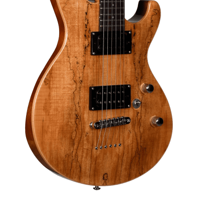 Teton M1630SM M Series Spalted Maple 6-String Electric Guitar w/Hardshell Case - Natural for sale