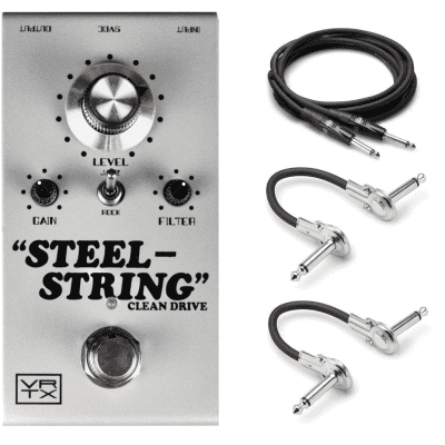 New Vertex Effects Steel String MKII Clean Drive Guitar Effect Pedal