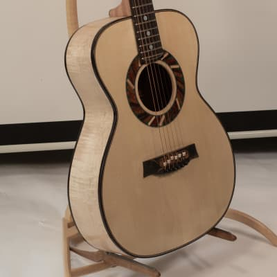 Portland Guitar OM Flamed Maple with Adirondack Spruce for sale