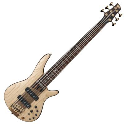 Ibanez SR1306-NTF SR Premium 6 String RH Nordstrand Big Bass w gigbag – Natural Flat for sale