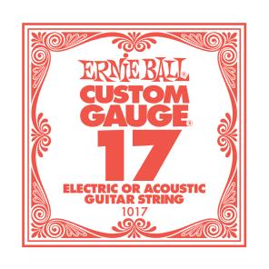 Ernie Ball Ernie Ball Plain Steel Single Guitar String .017 Gauge Pack of 6 strings PO1017 for sale