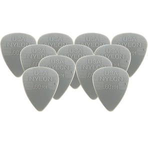 Dunlop 44P60 Nylon Standard .60mm Guitar Picks (12-Pack)