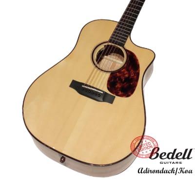 Bedell Limited Edition Adirondack Spruce Figured Koa Dreadnought Cutaway Handcraft guitar for sale
