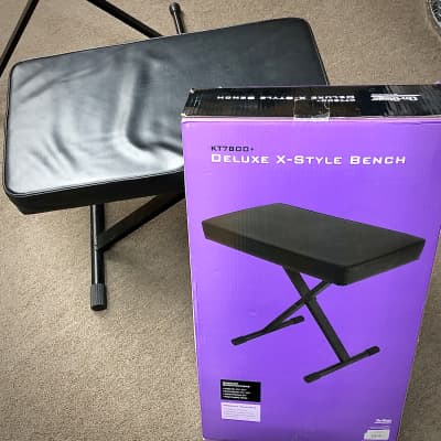 On-Stage Deluxe X-Style Bench KT7800+ (Black)