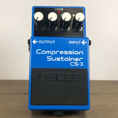 Boss CS-3 Compression Sustainer (Silver Label) 1997 - 2019 Blue
