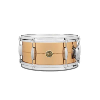"Gretsch G4168PB USA Phosphorus Bronze 6x13"" 6-Lug Snare Drum"