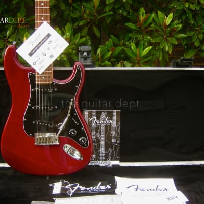 ♚ IMMACULATE ♚2010 FENDER American DELUXE ASH Stratocaster USA ♚ CHERRY ♚ S1 ♚ N3 ♚ 7.9LBS ♚ ELITE for sale
