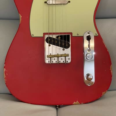 Shijie Guitar TLV Relic Vintage Red  Standard Frets with special Deep Roasted Maple Neck 2021 (Sold) for sale