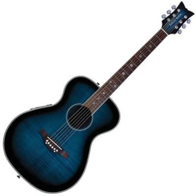 Daisy Rock Pixie Acoustic-Electric Guitar, Blueberry Burst for sale