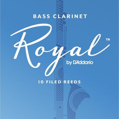 Rico Royal Bass Clarinet Reeds Strength 3, Box of 10