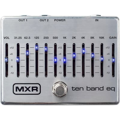 MXR M108S 10-Band Graphic EQ Guitar Bass Effects True Bypass Pedal Stompbox
