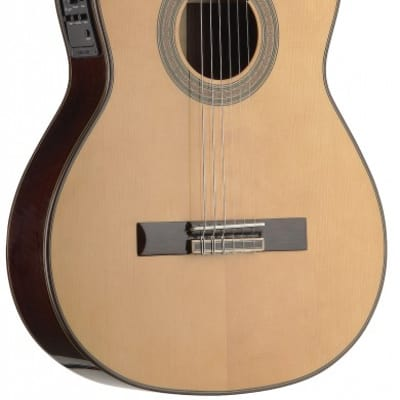 Angel Lopez C1448TCFI-S 4/4 Acoustic-Electric Classical Guitar w/ Thin Body and Solid Spruce Top