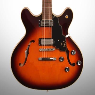 Guild Starfire IV ST Electric Guitar (with Case), Vintage Sunburst for sale