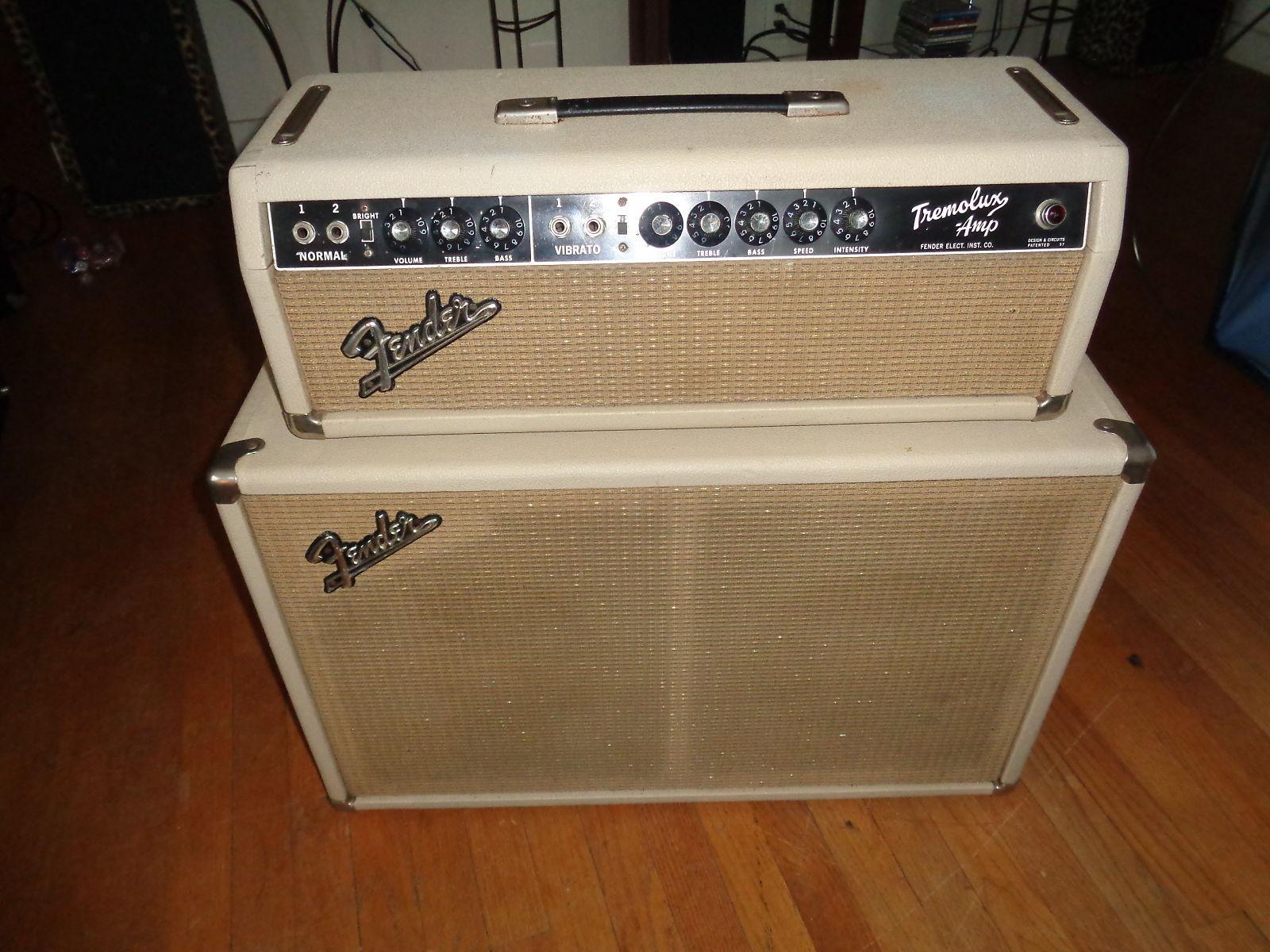 Fender Tremolux Piggyback Amp 1964 White