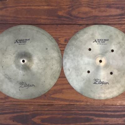 "USED Zildjian A 14"" Quick Beat Hi-Hat Cymbals (Pair)"