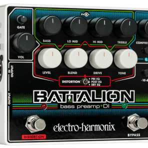 New Electro-Harmonix EHX Battalion Bass Preamp DI Pedal!