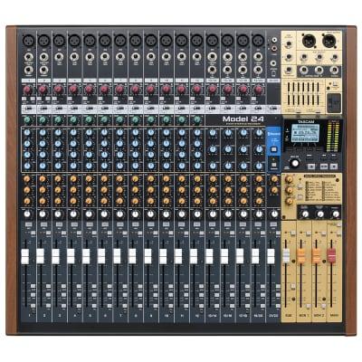 Tascam Model 24 Multi-Track Live Recording Console, 24 Channel Audio Interface