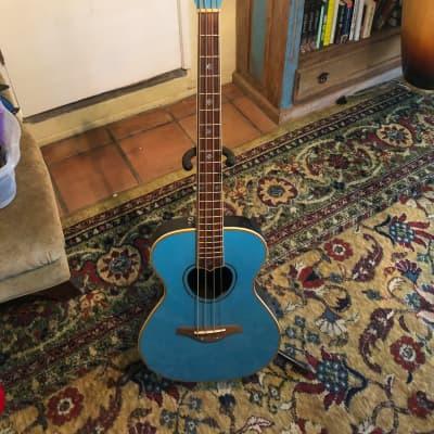 Daisy Rock Daisy Rock Acoustic Electric Bass Guitar Light Blue RARE Light Blue for sale