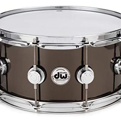 """DW Collector's Series Metal Snare - 6.5"""" x 14"""" Black Nickel Over Brass 1mm"""