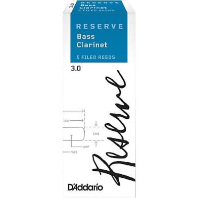 D'Addario Reserve Bass Clarinet Reeds - 3.0+