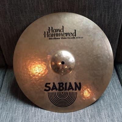 "Sabian 16"" HH Medium-Thin Crash Cymbal original hand hammered"