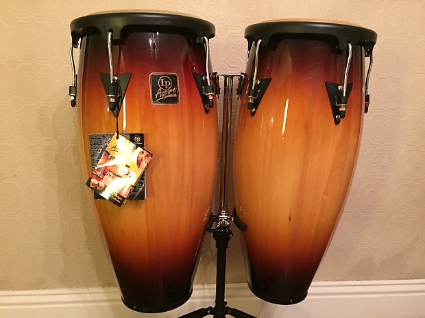 new latin percussion lp aspire congas w stand vintage fade reverb. Black Bedroom Furniture Sets. Home Design Ideas